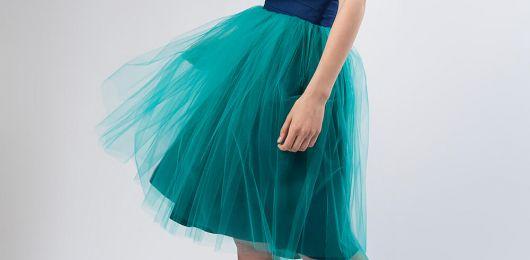 spódnica tiulowa turkusowa