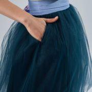 granatowa spódnica tiulowa z kieszeniami