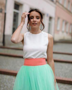 Miętowa spódnica tiulowa ANGURIA FRESCA