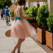 Różowa spódnica tiulowa GELATO ALLA PESCA