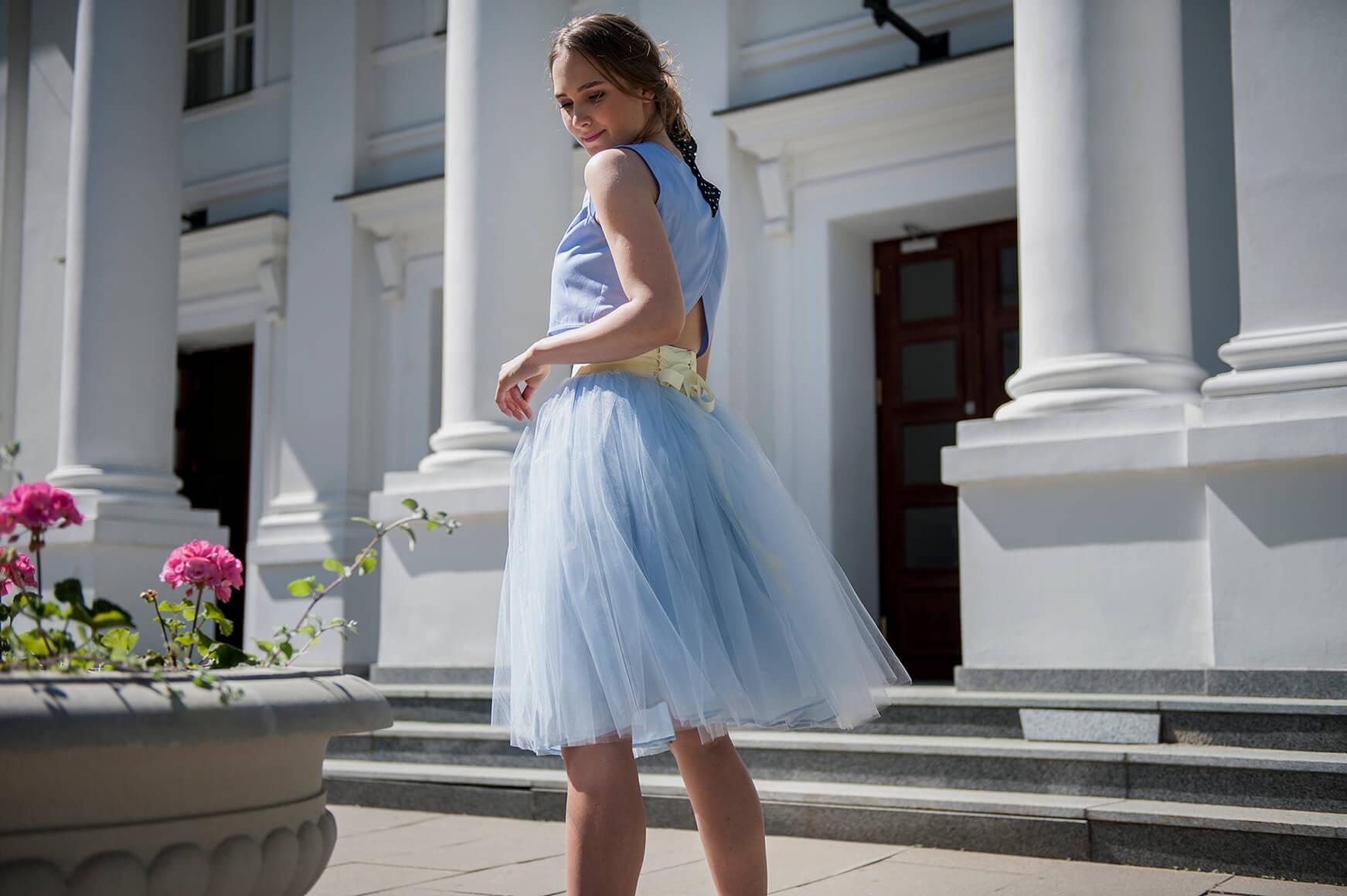 spódnica tiulowa na wesele