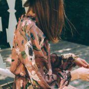 jesienna sukienka brudny róż