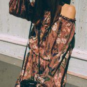 sukienka wiosenna brudny róż