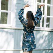 sukienka z rękawami maxi