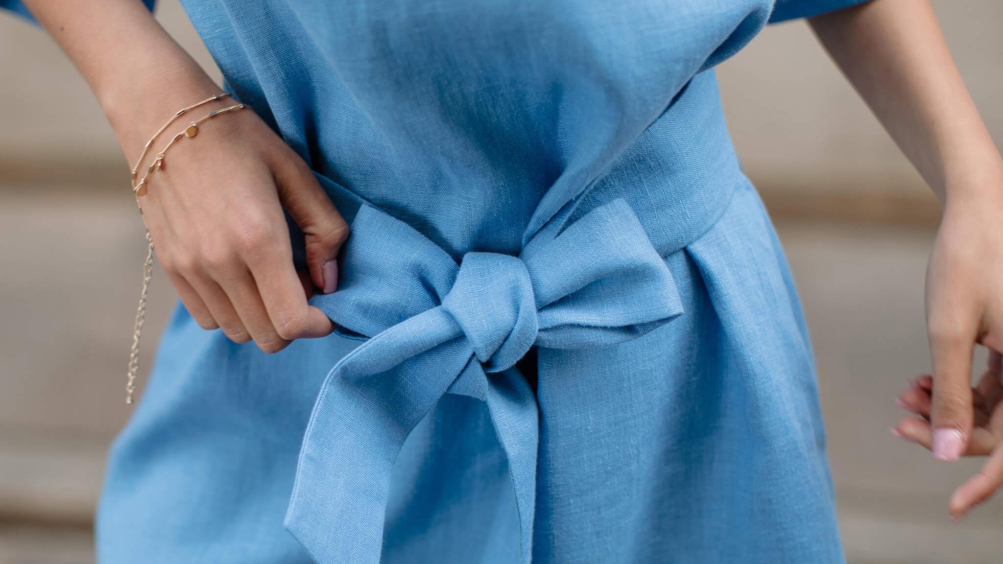 jak dbać o lniane ubrania