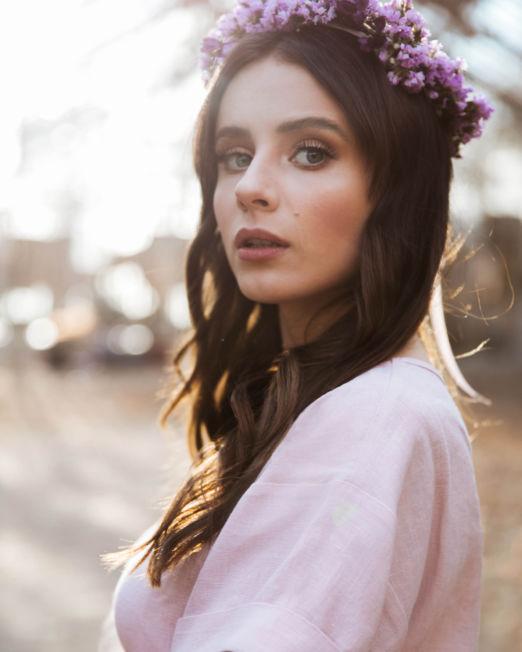 bluzka pudrowy róż