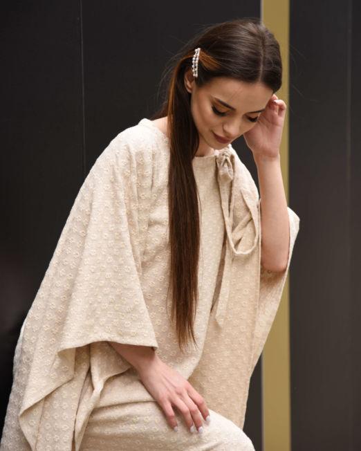 sukienka lniana haftowana na lato