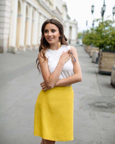 Żółta spódnica lniana Limoncello